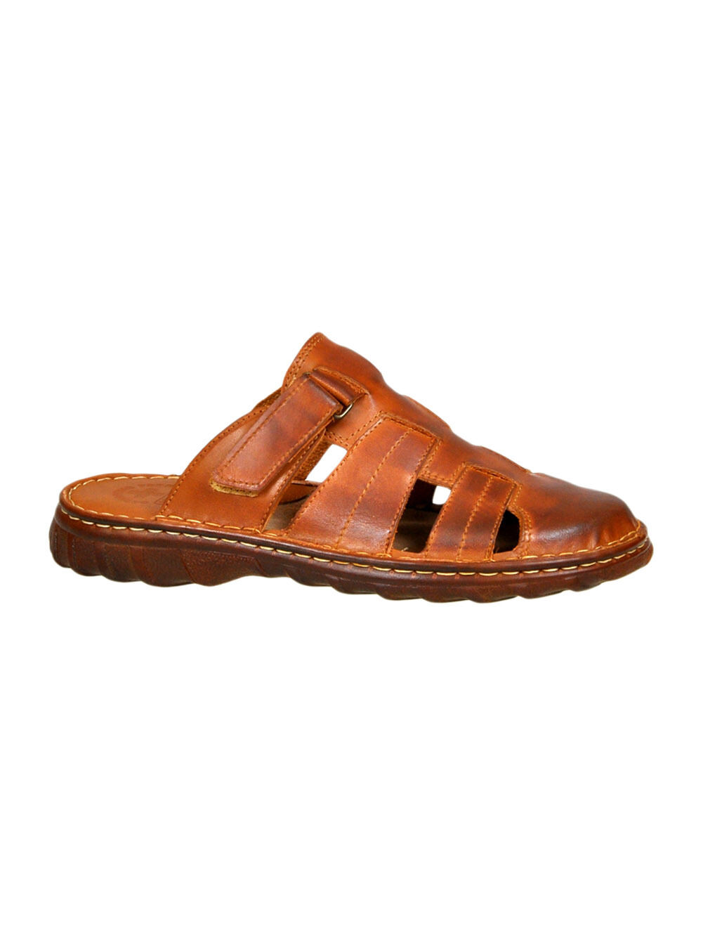 Comfortable Mens Natural Buffalo Leather Orthopedic Form Sandals Model-877