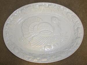 Thanksgiving Holiday White Porcelain Or Ceramic Turkey