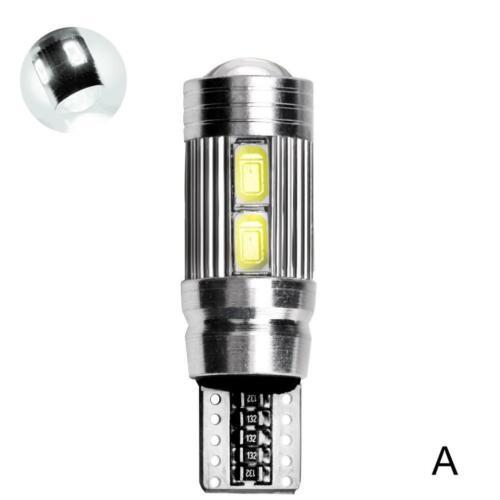 2PC 6000 Karat 5630 T10 LED 10-SMD Auto Canbus Fehlerfrei Keil Glühbirnen Klar