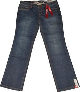Edc by Esprit Five Jeans NEU W30 L34 Long Damen Denim Hose Blau Stretch Slim Fit