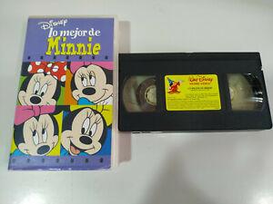 Lo-Mejor-de-Minnie-Walt-Disney-VHS-Cinta-Espanol-2T
