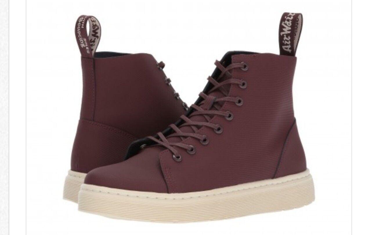 Dr Doc Martens scarpe scarpe scarpe Talib 8 Eye Leather Ankle avvio Wooly Bully Oxblood Uomo 13 38fcee