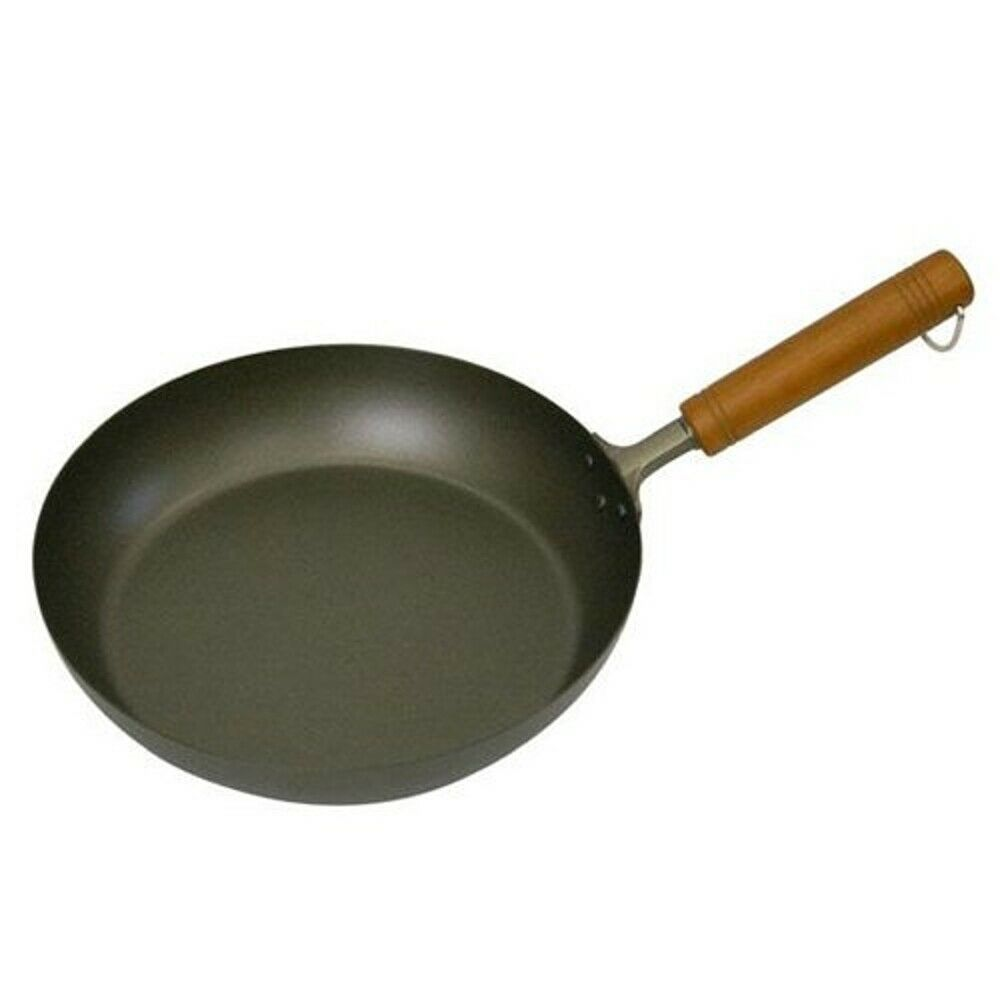 Pure titanium frying pan Wooden handle, gas only, light weight 26cm, cookware