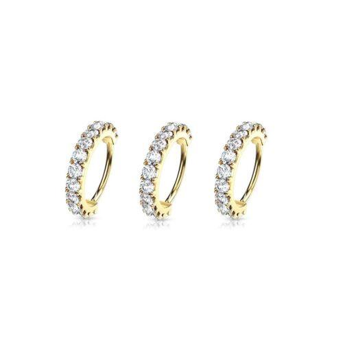 3pcs GEM HOOP Lip CARTILAGE Earrings Helix Daith Rook Tragus Orbital Conch RINGS
