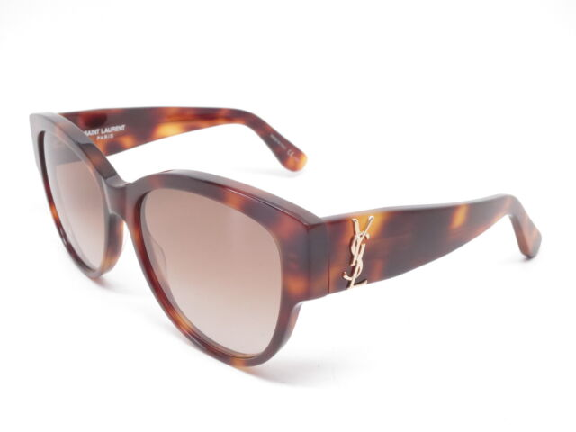 b649a419e72 New Authentic Saint Laurent SL M3 005 Havana with Brown Gradient Sunglasses  55mm