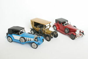 Matchbox-1-43-Lot-de-3-Peugeot-Mercedes-Duesenberg