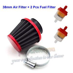 38mm air filter fuel filter for 50cc 110cc 125cc dirt pit. Black Bedroom Furniture Sets. Home Design Ideas