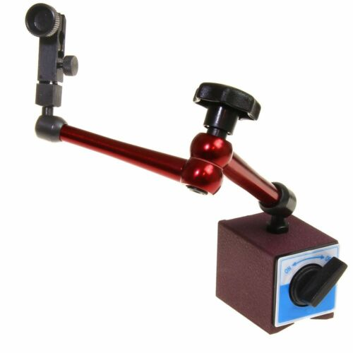 """Magnetic Base Dial Indicator Holder 14/"""" Reach Central Locking 176 lb Heavy Duty"""