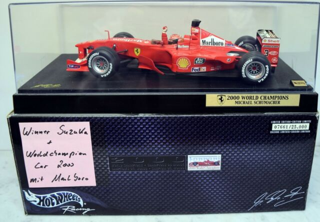 Hot Wheels 1:18 50930 Ferrari F-2000, Michael Schumacher Winner Suzuka + Worldch