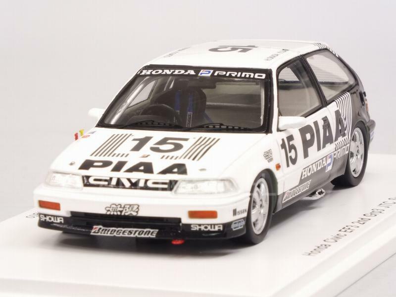 Honda Civic EF3 PIAA Grp3 JTC Suzuka 1989 Okada - Sato 1 43 SPARK S5456