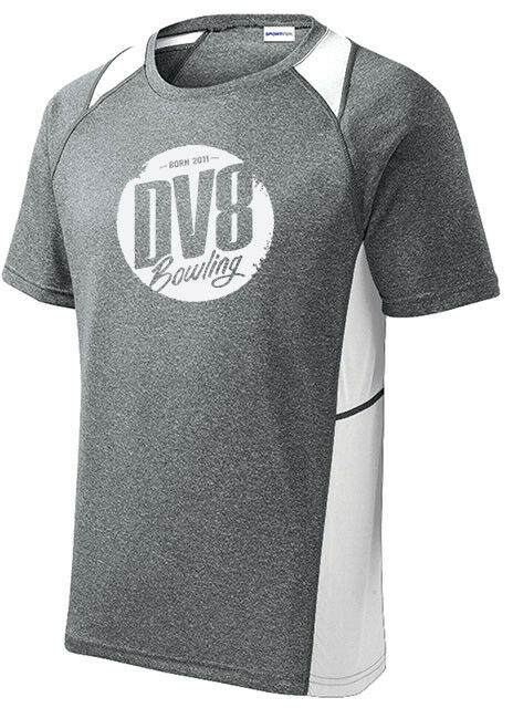 DV8 Men's Outrage Bowling Performance Shirt Heather White