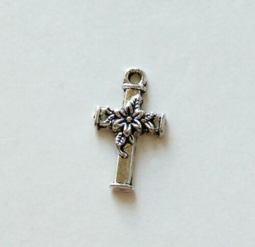 5//10x Cross Charms for Rosary//Bracelet Religious Pendant Earring Supplies C675