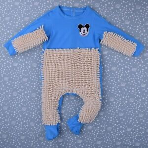 70eb7ae09036 Baby Mop Romper Outfit Unisex Bebe Boy Girl Polishes Floors Cleaning ...