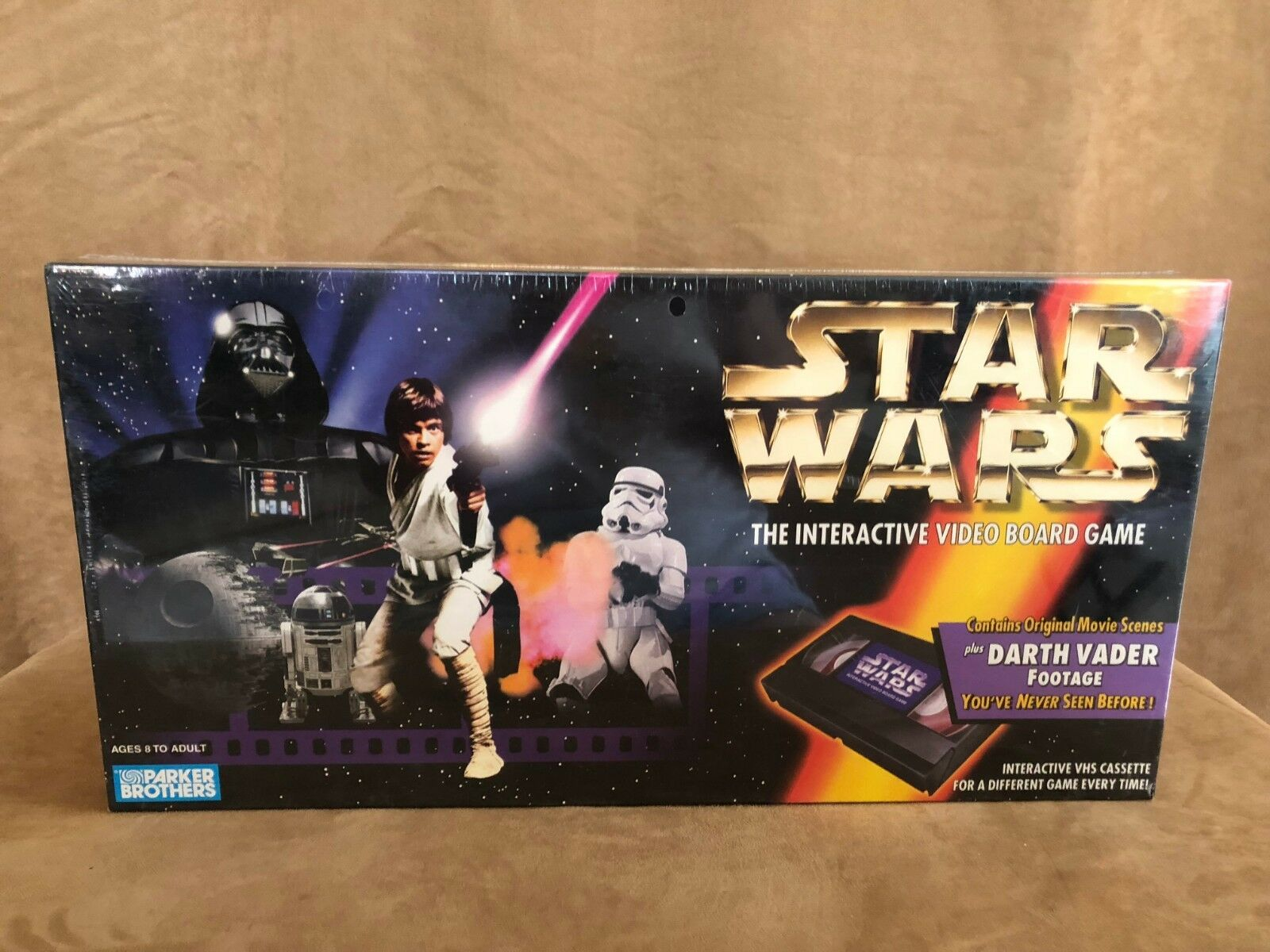 1996 Star Wars The Interactive Video Board game assault on the death star NEW