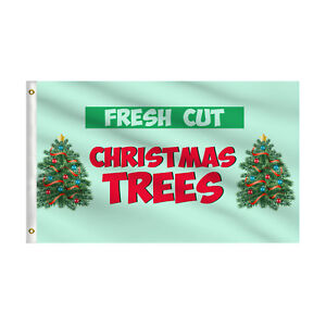 Fresh Cut Christmas Trees.Details About Fresh Cut Christmas Trees Flag 3 X5 Holiday Sale Advertising Rectangle Flag