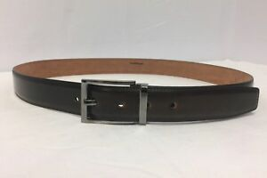 bba140156f2 Image is loading Salvatore-Ferragamo-Brown-Burnished-Leather-Square-Buckle- Belt-