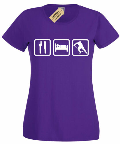 Femme Eat Sleep Hockey T shirt Tee Femme Cadeau