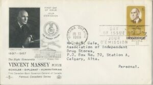 CANADA-1969-Victor-Massey-addressed-FDC-JD2236