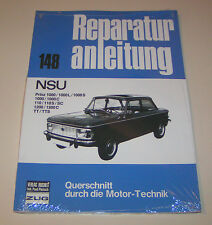 Reparaturanleitung NSU Prinz - 1000, 1000 L / 1000 S, 110, 110 S/SC, TT, TTS ..!