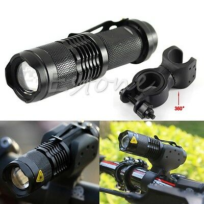 Q5 LED 1200LM Cycling Bike Bicycle Head Front Light Flashlight + 360° Mount