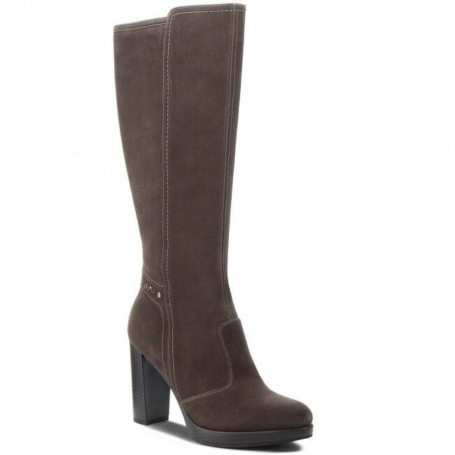 Boots Italie up Knee Woman blackgiardini New Collection a807011d Genuine Leather