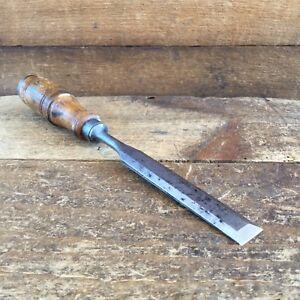 Vintage-SHARP-Swedish-3-4-034-BEVELLED-CHISEL-19mm-Old-Antique-Tool-648