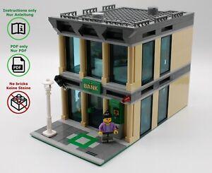 LEGO-City-Bank-modular-MOC-Bauanleitung-Instructions-keine-Steine-no-bricks