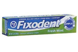 Fixodent Denture Adhesive Cream, Fresh Mint 2.40 oz (Pack of 3) 76660004658