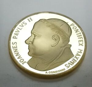 Pope-John-Paul-II-Gold-Coin-Francis-Holy-Spirit-Prayer-Alter-Bishop-Vatican-God