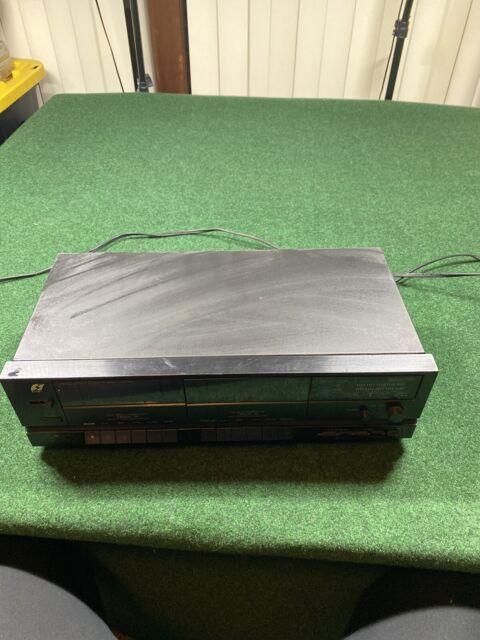 Sansui D-750WR Dual Cassette Deck With Dual Auto-Reverse Black Face TESTED Clean