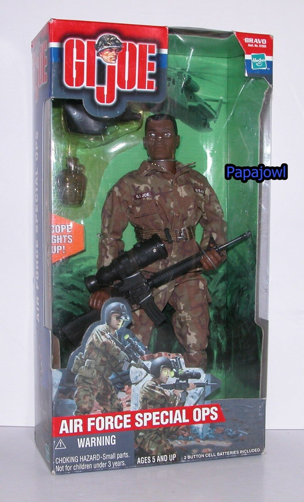 G.I. Joe Air Force Special Ops With Light Up Scope 12  Action Figure Hasbro 2000