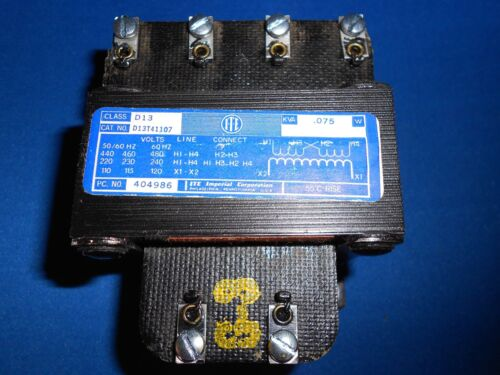 DT13T41107  TRANSFORMER PRIMARY 240//480  SEC 120  NEW OLD STOCK
