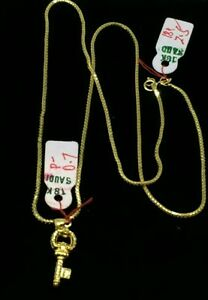 GoldNMore-18K-Gold-Necklace-and-Pendant-18-inches-chain