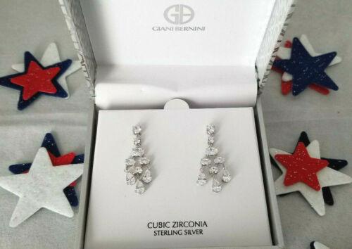Giani Bernini Cubique Zircone Lustre Pendants d/'oreilles en argent sterling