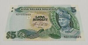 Malaysia 5th Series Taha RM5 ND