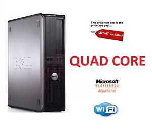 DELL-Veloce-Quad-Core-PC-computer-Windows-7-o-10-WI-FI-GARANZIA-AFFARE-a-buon-mercato