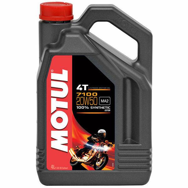 Huile MOTUL 7100 100% synthèse 20W50 4 litres