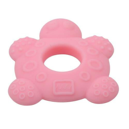 Baby Turtle Silicone Teether Safety Tortoise Soother Teething Pacifier Toys FS