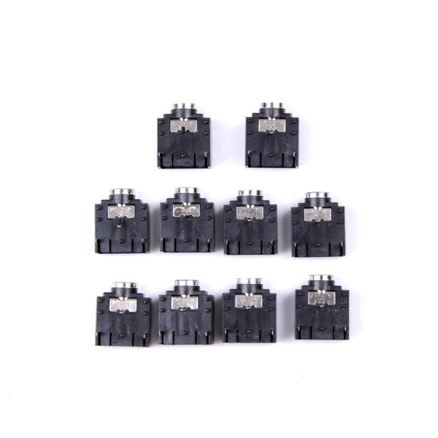 3.5mm 10 Pcs 3 Pin PCB Mount Female 3.5mm Stereo Jack Socket Connector HGUK