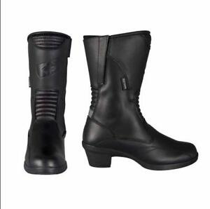 Oxford-VALKYRIE-Botas-Chica-Moto-Impermeable-negro-Talla-EU-41-UK-8-USA-10