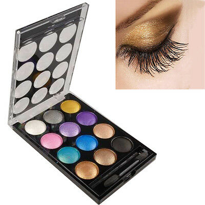 12 Colors Pro Women Hot Makeup Cosmetic Palette Shimmer Natural Eye Shadow
