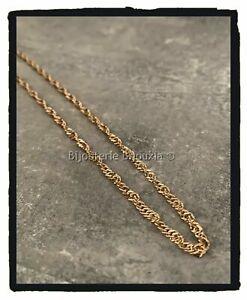 Bracelet-Chainage-Fin-Maille-Singapour-Plaque-Or-18-Carats-Bijoux-Femme