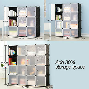 plastic storage shelf display interlocking storage shoe bookcase rh ebay co uk