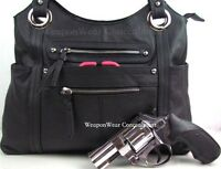 Concealment Purse Black Free Gift Concealed Carry Holster Gun Conceal Purse 8
