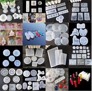 Round Silicone Resin Mold DIY Jewelry Pendant Making Tool Mould Handmade Craft
