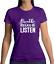 Damen T-Shirt Lustige Sprüche Yoga Relax Musik Band Fun Atme Entspann Zuhören