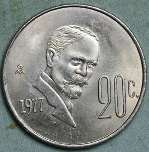 Details about Double Die 1977 Mexico 20 Centavos~Bu ~ Combined S & H