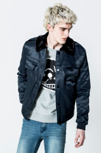 c66750025 Details about Cheap Monday Men's Freeze Bomber Flying Jacket Size Large RRP  £120