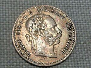 Austria-Empire-Hapsburg-Franz-Joseph-10-Silver-Kreuzer-1870-Crowned-Double-Eagle