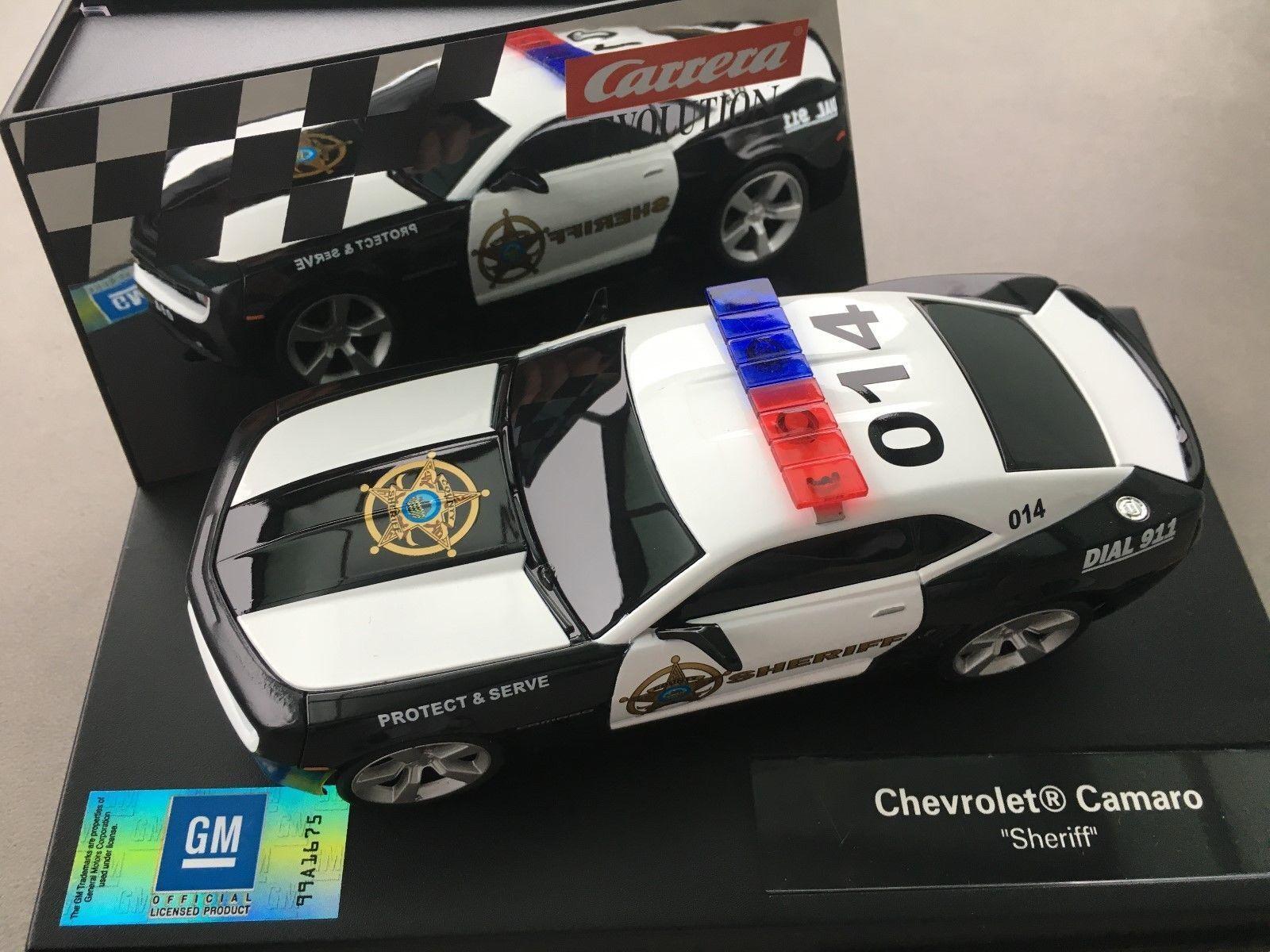 Carrera 1 32 ref. 27523 CAR SHERIFF CHEVROLET CAMARO NEW NEW